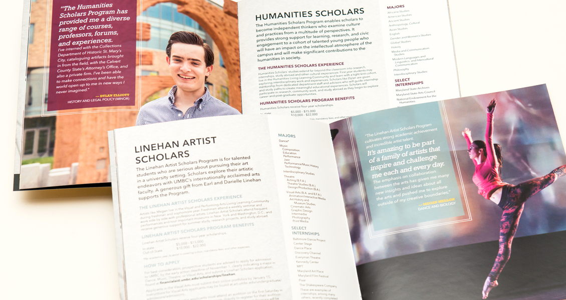 Interior spreads of the Scholars Booklet
