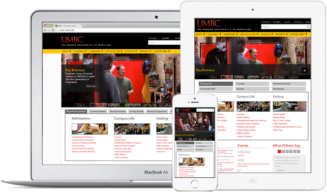 mobile version of umbc web